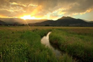 water rights, Utah water, water irrigation, canal, the field, sunrise, sunset, mountain,farmland